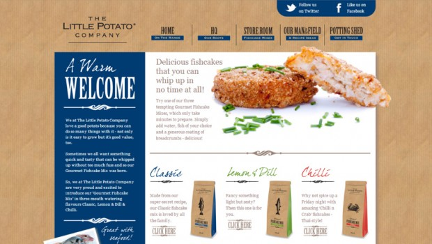 Little Potato Company website home page