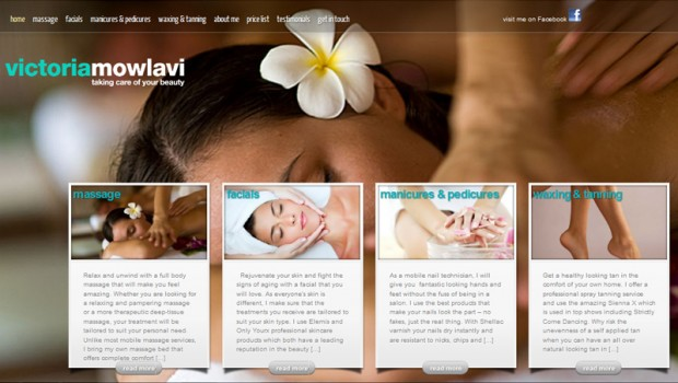 Victoria Mowlavi homepage web designer