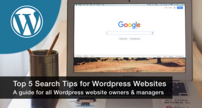 Top 5 search tips for Wordpress websites