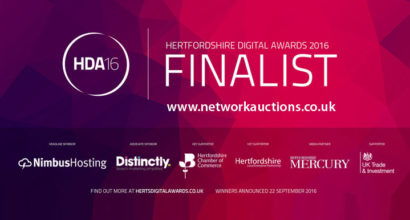 Herts Digital Awards 2016 nominated finalist