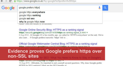 Proof Google prefers https SSL websites