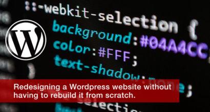 Redesigning a new Wordpress theme