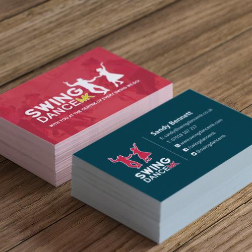 Swing dance businesscard v1 aubergine262 business card graphic design for swingdance mk of milton keynes reheart Gallery