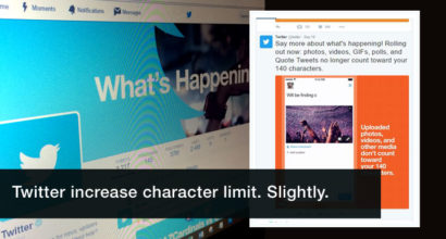Twitter increase character limit for tweets