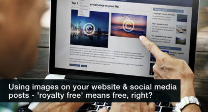 using images on your website & social media posts