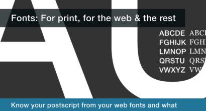 What is a postscript or web font