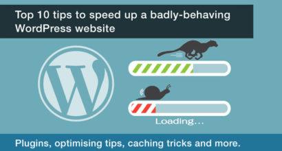 How do I speed up a slow Wordpress website?