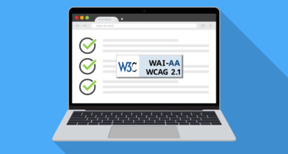 laptop screen with WCAG logo