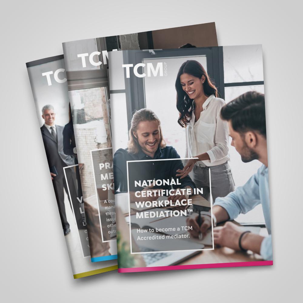 Graphic designer Leighton Buzzard - TCM brochure
