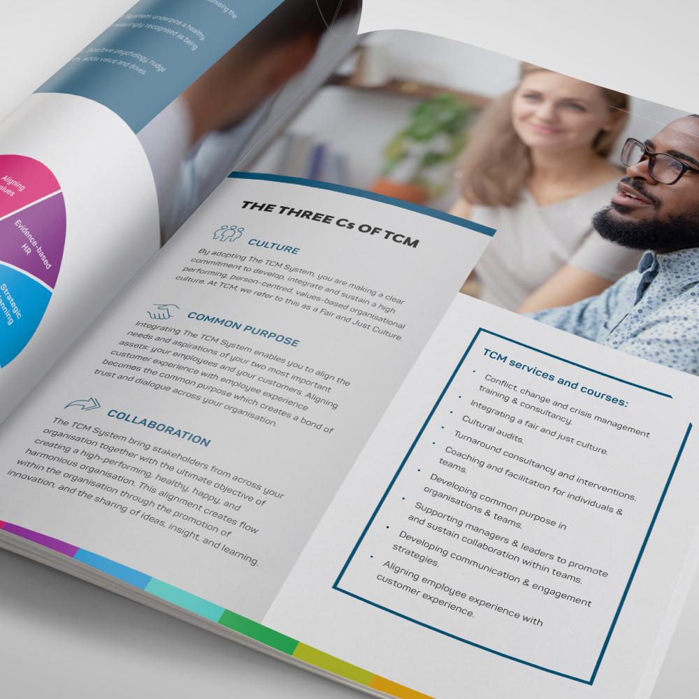 TCM brochure design