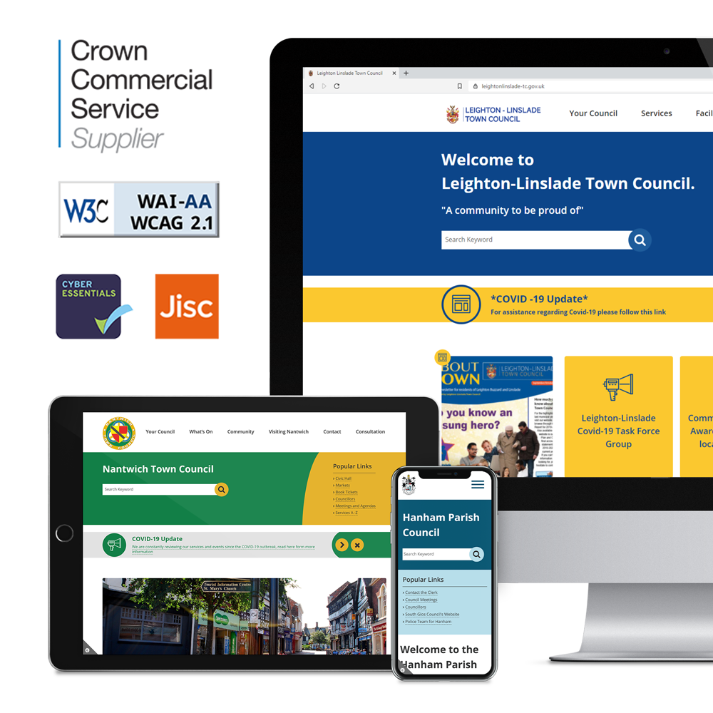 Examples of WCAG 2.1 AA rated Council websites